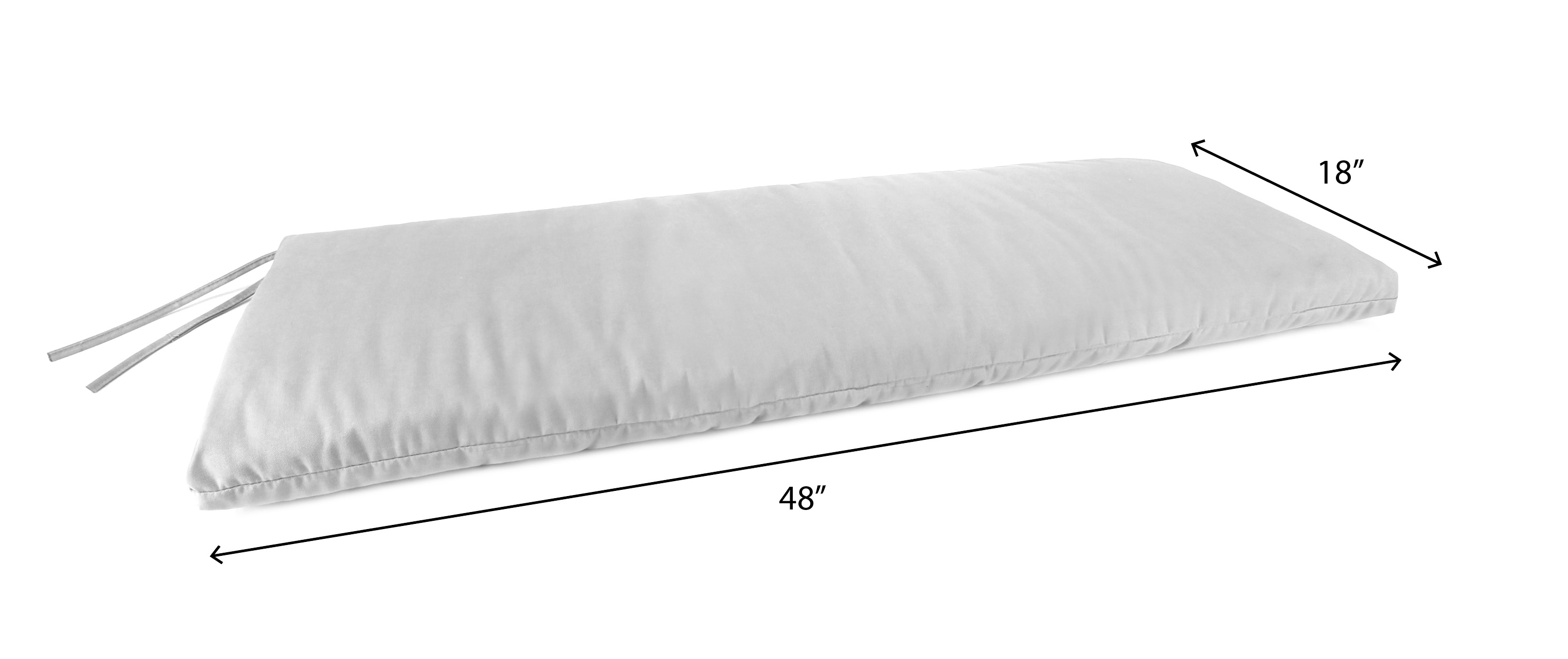 Sunbrella 48 X 18 X 35 Outdoor Bench Cushion Walmartcom