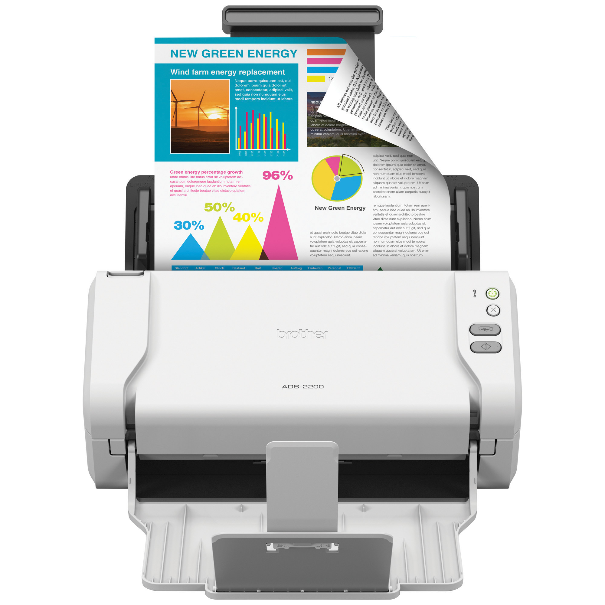 Brother ADS-2200 Scanner, 1200 x 1200dpi by BROTHER INTL. CORP.
