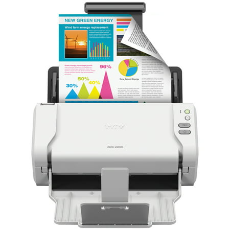 Brother ADS-2200 High-Speed Desktop Document Scanner, Multiple Scan Destinations, Duplex