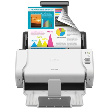 Brother ADS-2200 High-Speed Desktop Document Scanner, Multiple Scan Destinations, Duplex Scanning