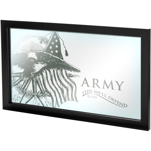 U. S Army This We'll Defend Framed Mirror