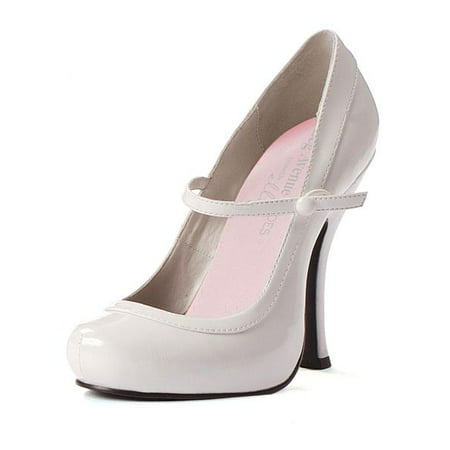 White Patent Sexy Mary Jane Shoes (Wholesale Sexy Shoes)