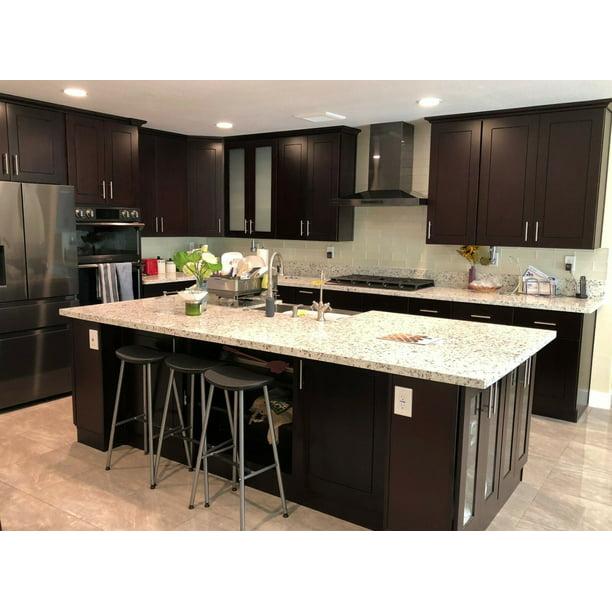 10 X10 Galaxy Cabinetry Rta Espresso Shaker Kitchen Cabinets Solid Wood Doors Free 3d Design Walmart Com Walmart Com