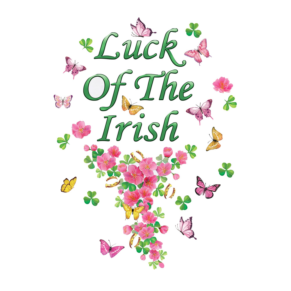 Luck of the Irish Garage Door Magnets  Decoration w/ Butterflies