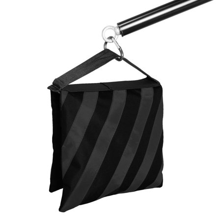 4 Pieces Saddlebag New Sand Bag Heavy Duty Weight Bag, Black Color, Holds 18lbs for Photo Studio Light Stand & Boom Stand, WMLS2114