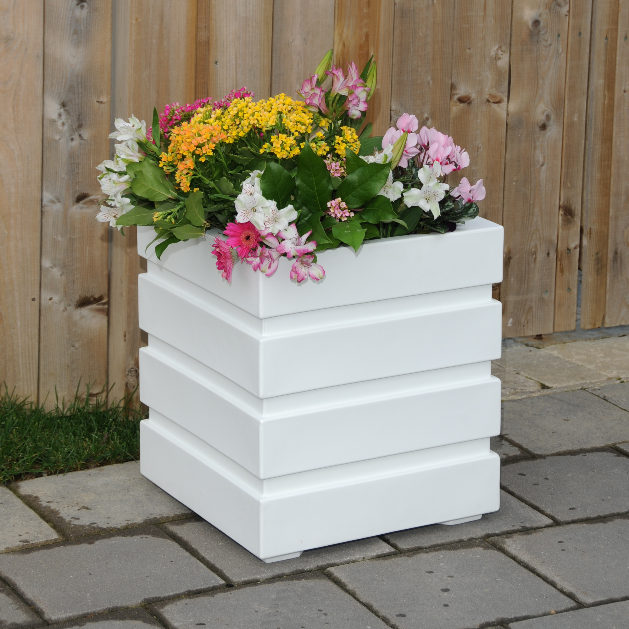 Freeport Patio Planter 18x18 White by Mayne Inc.