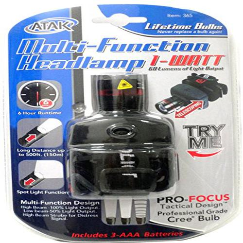 Atak 120 Lumen LED Multi-Function Headlamp