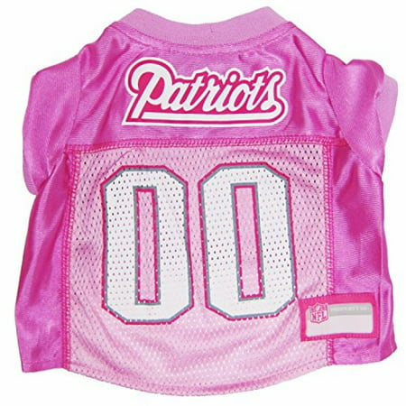 Pets First NFL New England Patriots Pet Jersey, Small, pink