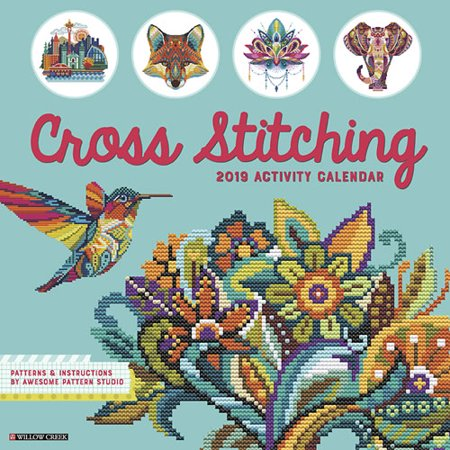 Willow Creek Press 2019 Cross Stitching Wall (Best Cross Platform Calendar)
