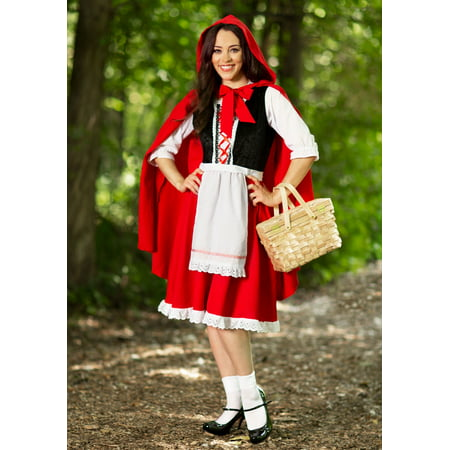 Adult Little Red Riding Hood Costume (Halloween Makeup Little Red Riding Hood)