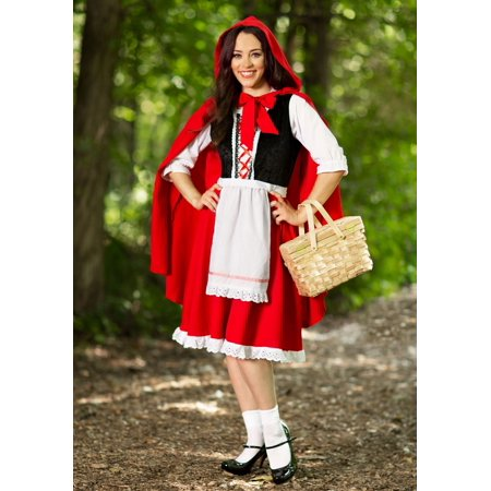 Adult Little Red Riding Hood Costume - Party City Red Riding Hood Costume