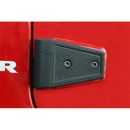 Rugged Ridge 11202.05 Door Hinge Cover Kit, Black, 07-14 Jeep Wrangler Unlimited JK - image 2 of 2