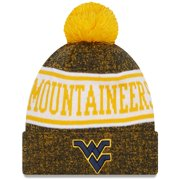 West Virginia Mountaineers New Era Youth Banner Cuffed Pom Knit Hat - Gold - OSFA