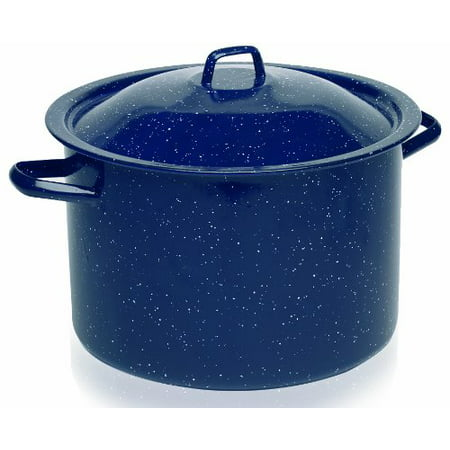 IMUSA USA C20666-10636W Enamel Stock Pot 7.75-Quart Blue