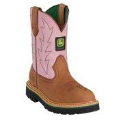 John Deere Girls Toddler Kids Pink Cowboy Boots 8.5