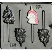 227 Unicorn Head Lollipop Chocolate Candy Mold