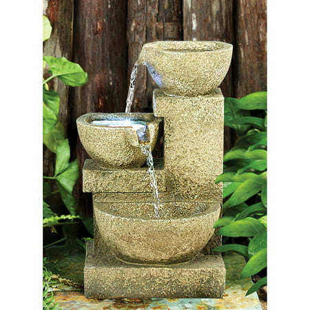 Cross Desk Fountain - Villa Fortino Cascading Garden Fountain