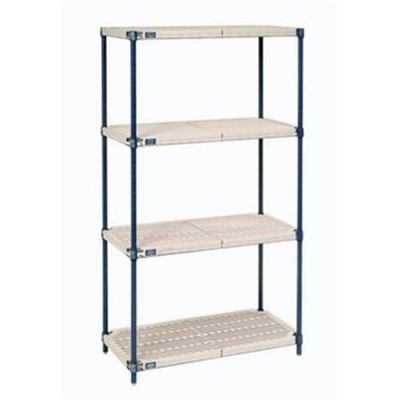 Nexel Plastic Shelf (Nexel Industries PM24306N Nexelite Plastic Mat Starter Shelf Unit - 24 x 30 x 63 in. )