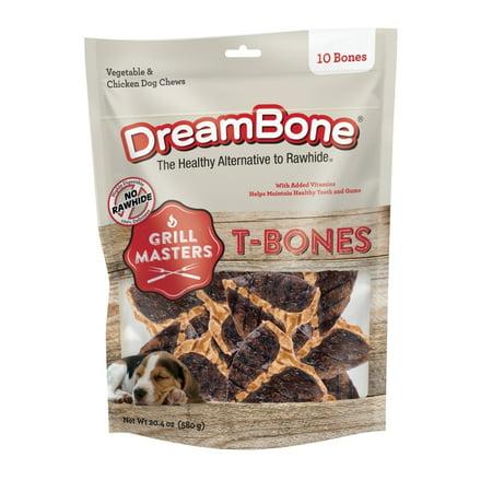 DreamBone Grill Masters T-Bones Rawhide-Free Dog Chews, (Best Rawhide Bones For Puppies)