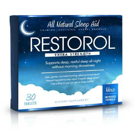 Restorol - Natural Sleep Aid - Relief from Jet Lag & Sleep Deprivation - Regulate Sleep Cycle - Get Restful Sleep (30ct)