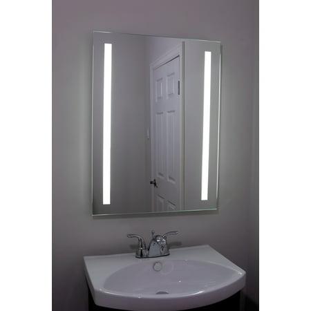 Illuminated Large Beautiful Decorative Frameless Professional Makeup Mirror for Bathroom or Vanity
