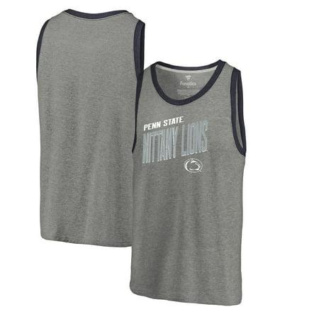 Penn State Nittany Lions Fanatics Branded Slant Strike Tri-Blend Tank Top - Heathered Gray