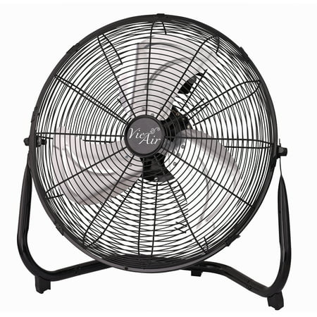 "Vie Air 14"" Industrial High Velocity Heavy Duty Metal Floor Fan with 3 Speed Settings"