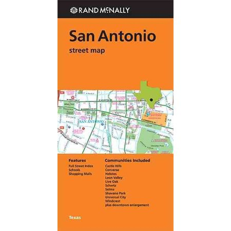 Rand mcnally san antonio, texas street map - folded map: 9780528007644 (Texas Road Map)