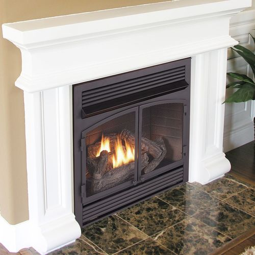 Duluth Forge Dual Fuel Ventless Fireplace Insert - 32,000 BTU, T-Stat Control, Model FDF400T-ZC