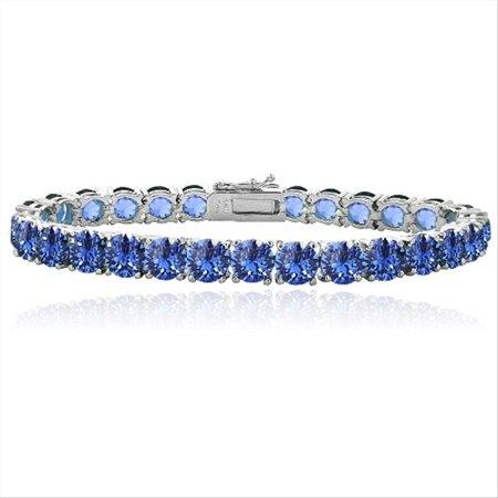 silverspeck blue swarovski elements tennis bracelet. Black Bedroom Furniture Sets. Home Design Ideas