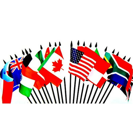 Small Country Flags (G-20 (Group of 20) WORLD FLAG SET--20 Polyester 4
