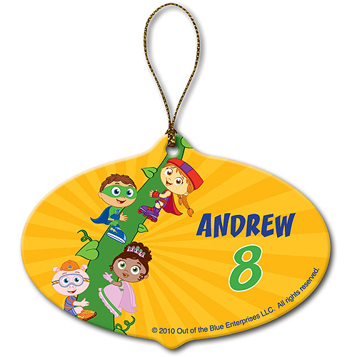 Personalized Super Why! Super Readers Beanstalk Christmas Ornament