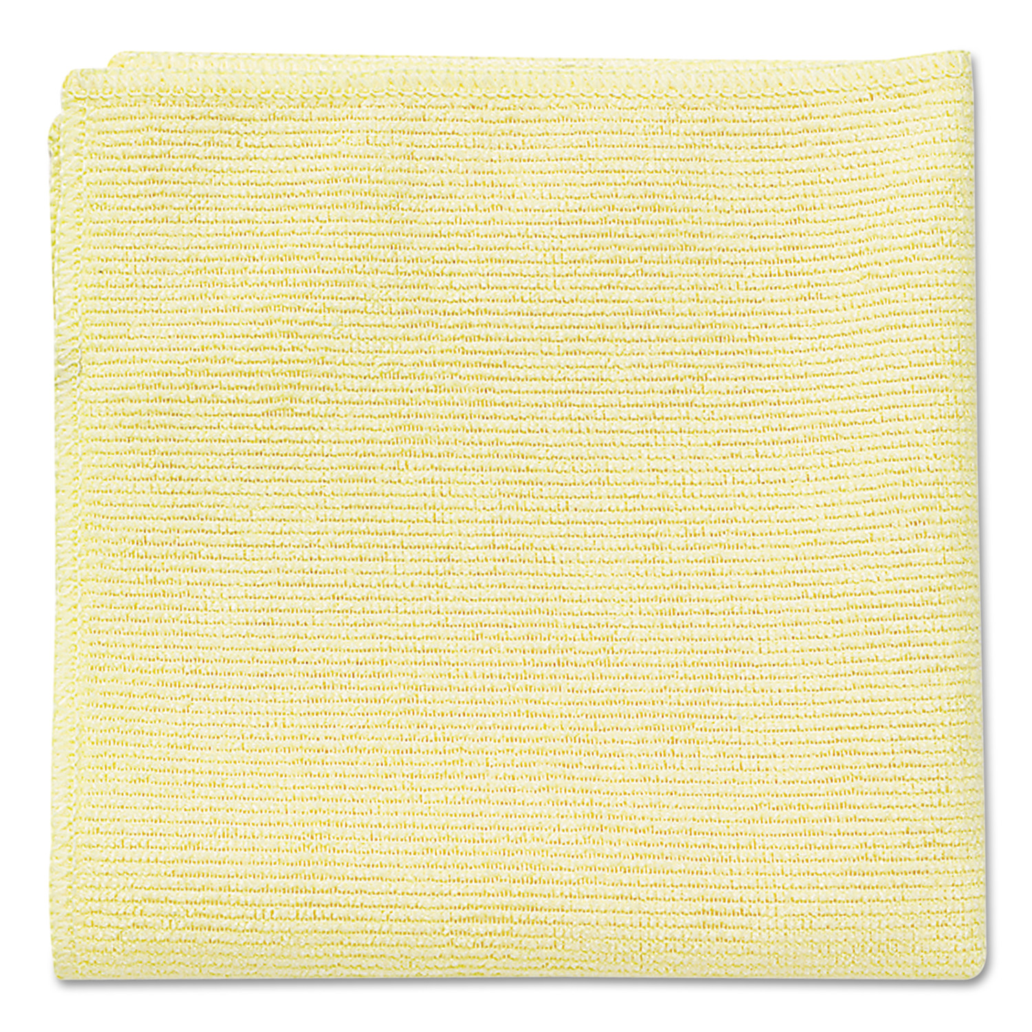 Rubbermaid Commercial Microfiber Cleaning Cloths, 16 x 16, Yellow, 24/Pack