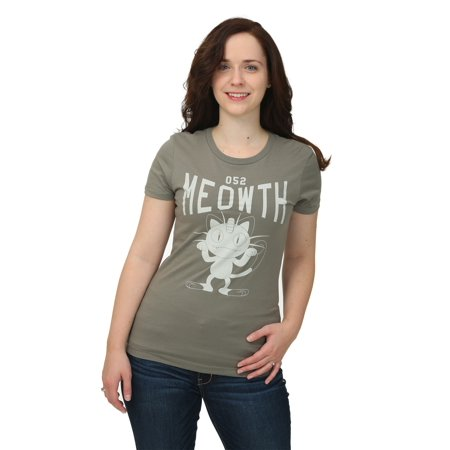 Pokemon Meowth Varsity Womens T-Shirt