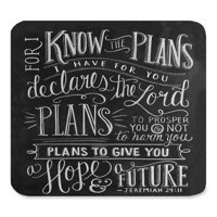 POPCreation Vintage Bible Verse Scripture Quotes Psalms Sayings Art Mouse pads Gaming Mouse Pad 9.84x7.87 inches