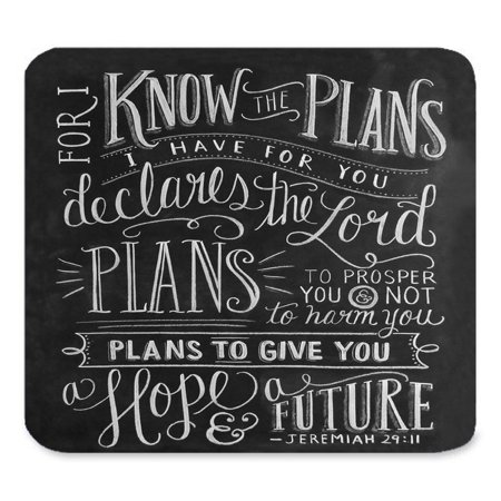 POPCreation Vintage Bible Verse Scripture Quotes Psalms Sayings Art Mouse pads Gaming Mouse Pad 9.84x7.87 inches Munch Art Mouse Pad