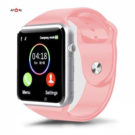 Premium Pink Bluetooth Smart Wrist Watch Phone mate for Android Samsung HTC LG Touch Screen with Camera