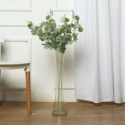 """Efavormart 34"""" Tall 10 Heads Green Globe Thistle Artificial Flowers Natural Fake Plants For Wedding Event Decoration"""