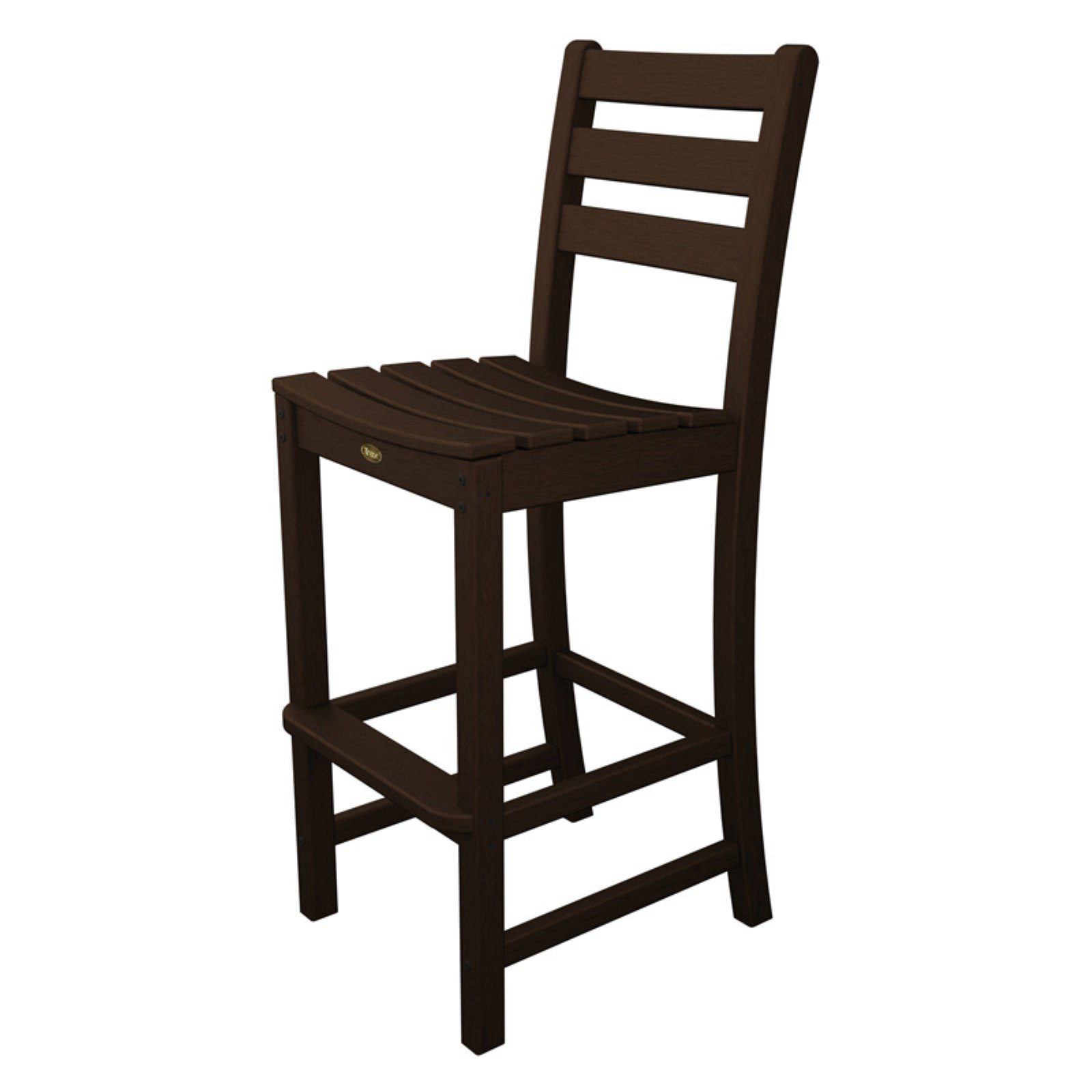 Trex Outdoor Furniture Recycled Plastic Monterey Bay Bar Height Side Chair