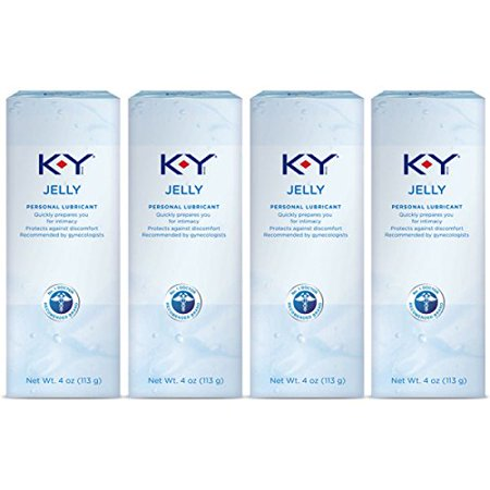 K-Y Jelly Personal Lubricant 16 oz (4 Bottles x 4 oz), Premium Water Based Lube For Women, Men & Couples, Pack of