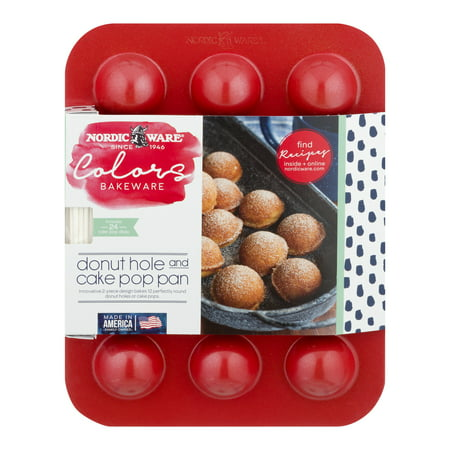 Nordic Ware Bakeware Donut Hole And Cake Pop Pan w/ Sticks, Aluminum - Donut Hole Eyeballs