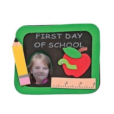 "IN-48 2487 ""First Day of School"" Picture Frame Magnet Craft Kit Makes 12 by Oriental Trading Company"