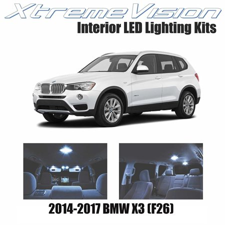 Xtremevision Led For Bmw X3  F26  2014 2017  16 Pieces  Cool White Premium Interior Led Kit Package   Installation Tool