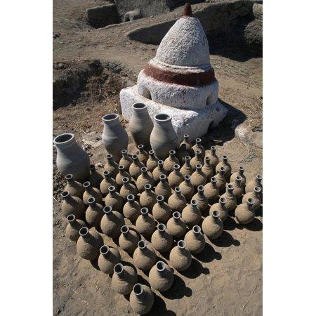 Terracotta Containers, Dakhla Qasr Oasis, Western Libyan Desert, Deir El Haggar, Egypt Print Wall