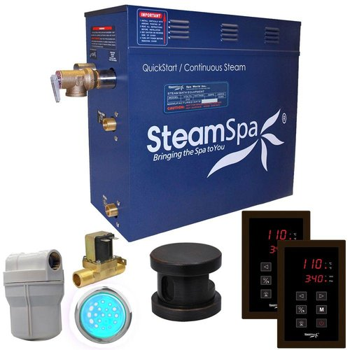 SteamSpa RYT450-A Royal 4.5 KW QuickStart Acu-Steam Bath Generator Package with Built-in Auto Drain and Touch Controller