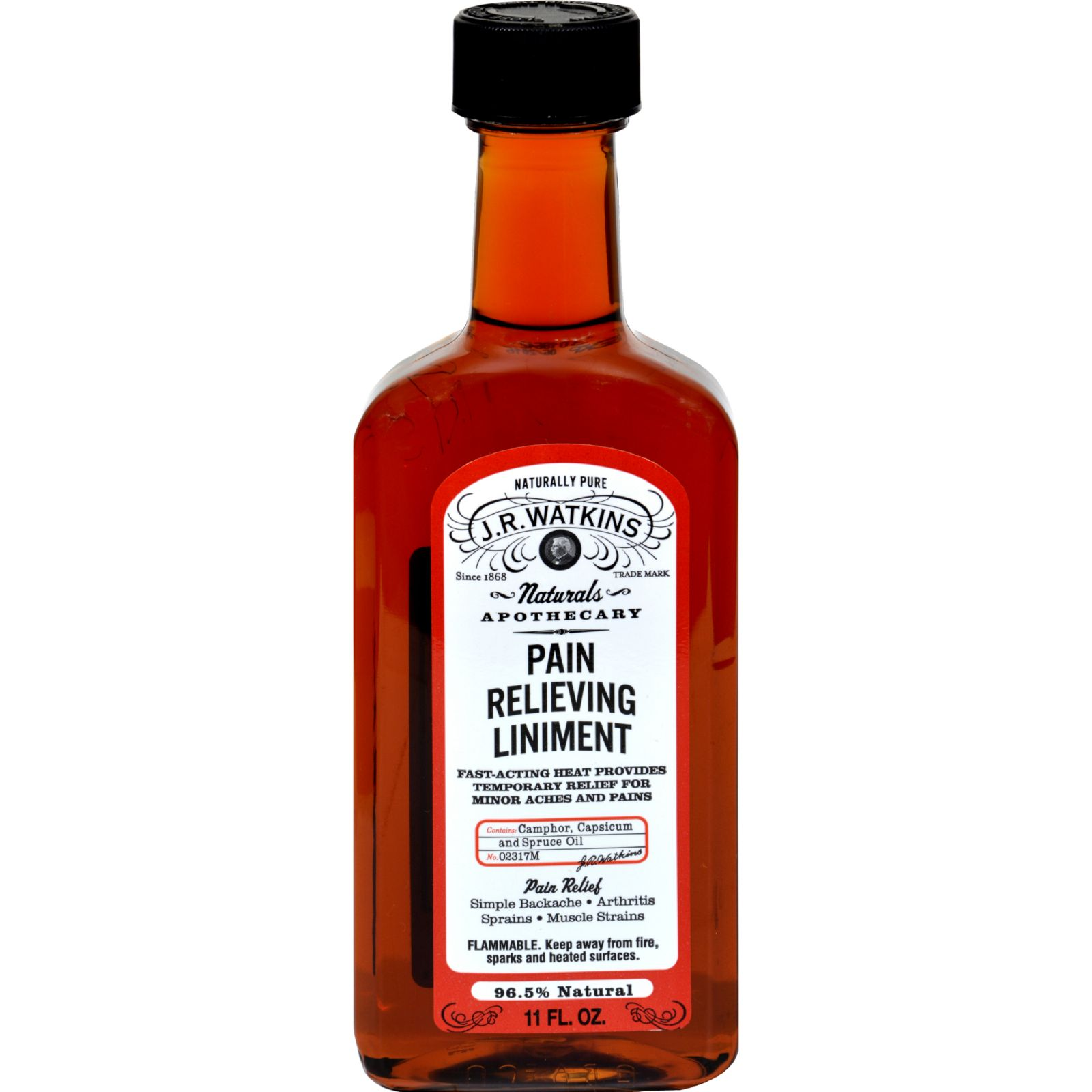 J.R. Watkins Natural Pain Relieving Liniment - 11 oz - (Pack of 2)