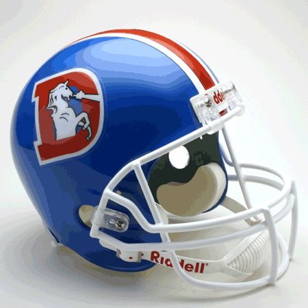 (Denver Broncos 1975-96 Throwback Riddell Deluxe Replica Helmet)
