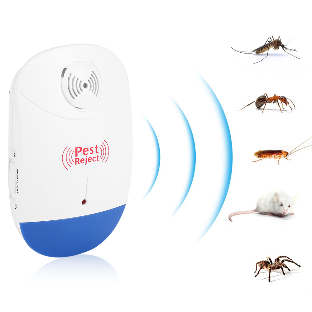 Unltrasonic Pest Repeller, Estink Indoor Electronic Pest Control Anti Mosquito Rat Mice Insects Pest Mouse Control Repeller, Eco-Friendly, Human & Pet Safe