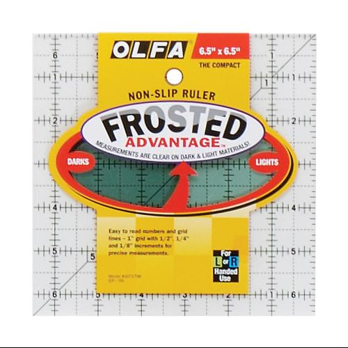"Olfa Frosted Advantage Non-Slip Ruler ""The Compact""-6-1/2""X6-1/2"""