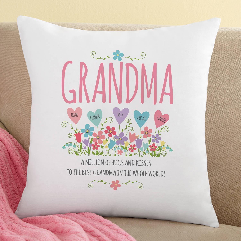 Personalized Heart Garden Throw Pillow
